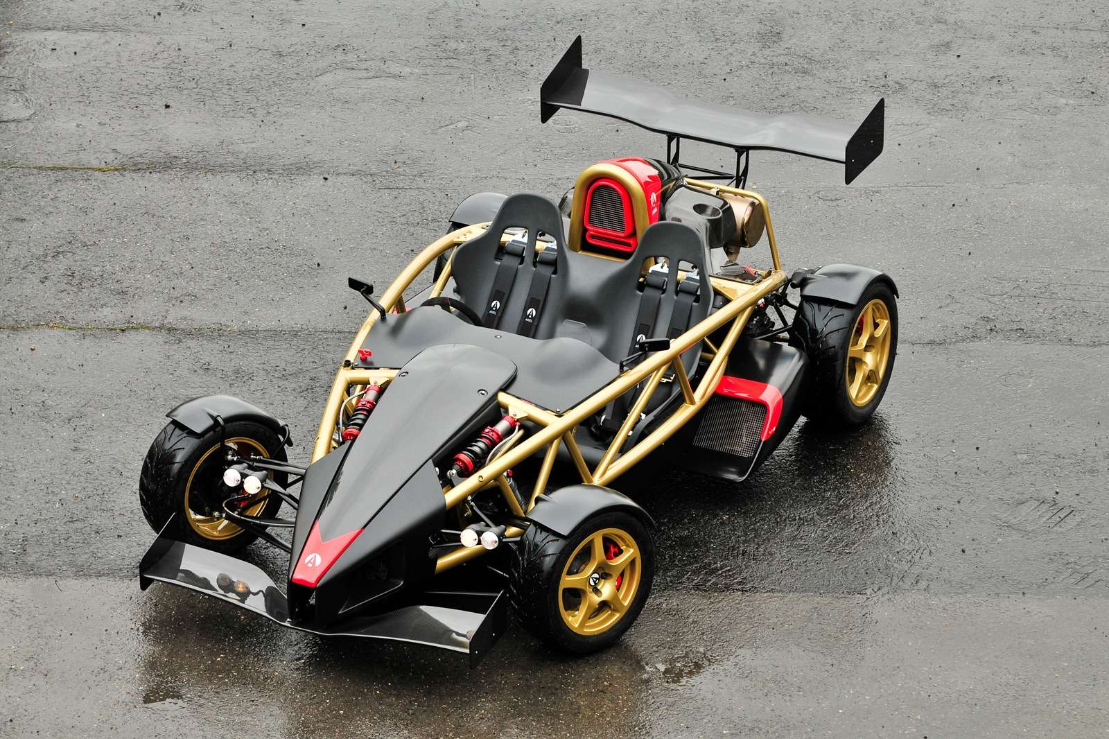 "The Ariel Atom V8 features a Hartley Hayabusa based V8 & Sadev ST90  gearbox. This car recently set the 'Top Gear' fastest lap in the hands of  ""The Stig""."