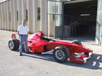 Neil with F3000 car